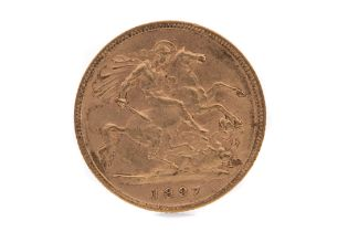 A VICTORIA GOLD HALF SOVEREIGN DATED 1897