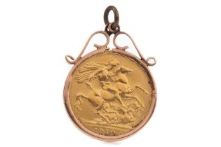 AN EDWARD VII GOLD SOVEREIGN DATED 1910