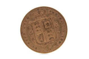 A VICTORIA GOLD HALF SOVEREIGN DATED 1872
