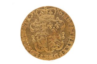 A GEORGE III GOLD GUINEA DATED 1776