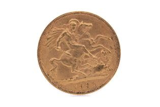 AN EDWARD VII GOLD HALF SOVEREIGN DATED 1902