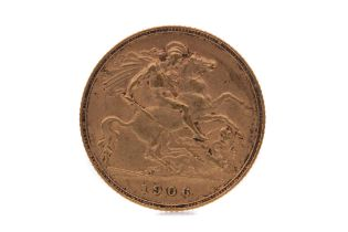 AN EDWARD VII GOLD HALF SOVEREIGN DATED 1906