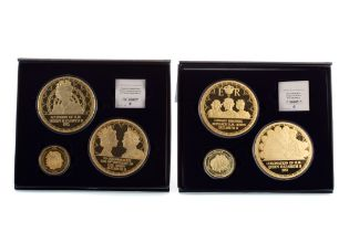 TWO SETS OF COMMEMORATIVE QUEEN ELIZABETH II COIN SETS