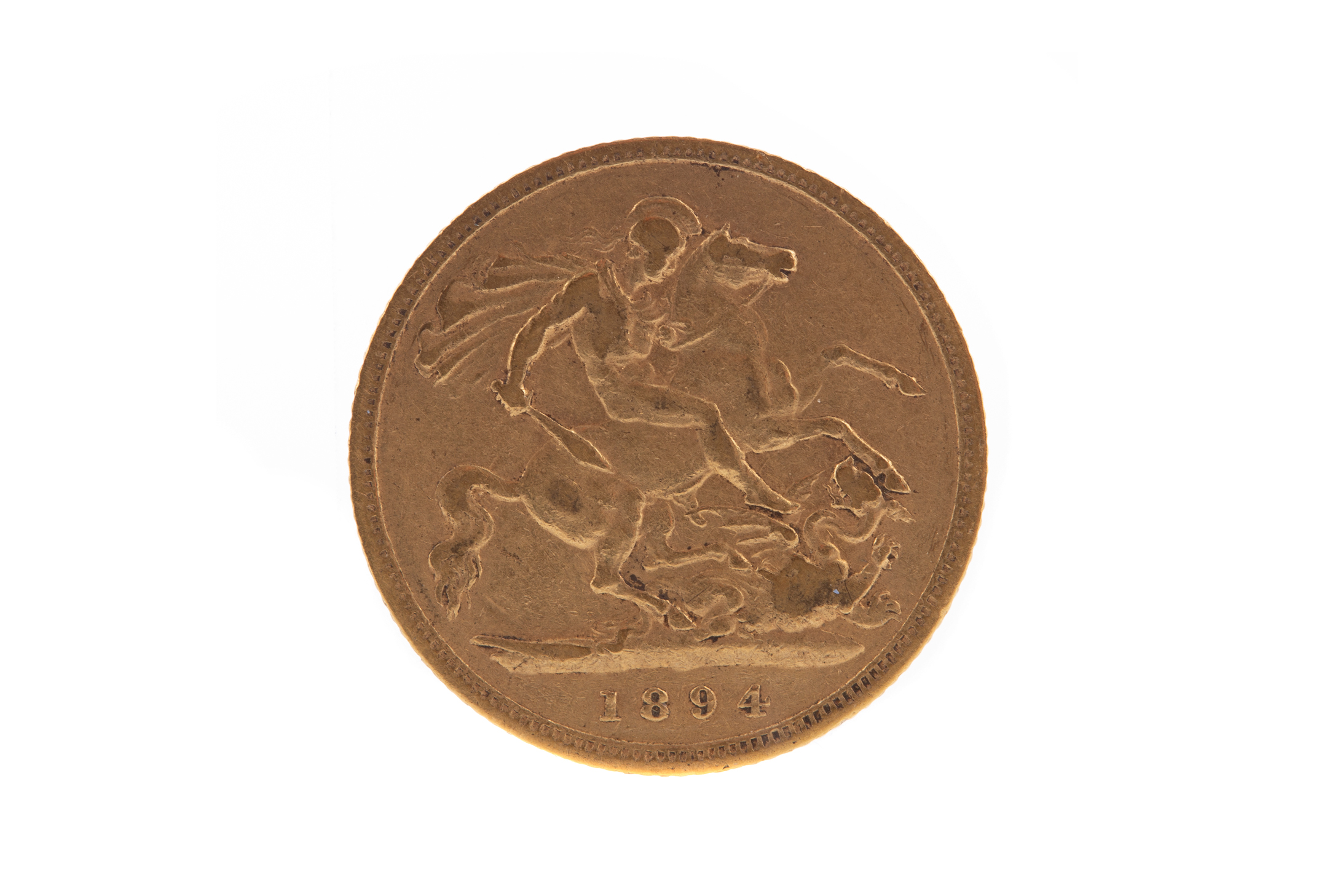A VICTORIA GOLD HALF SOVEREIGN DATED 1894