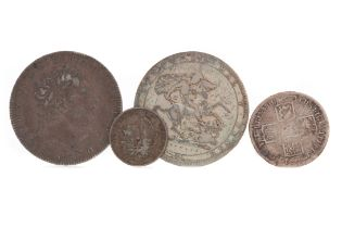 A COLLECTION OF GEORGE II (1727 - 1760) AND GEORGE III (1760 - 1820) COINS