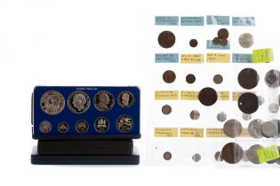 A COLLECTION OF COIN SETS AND OTHER COINS