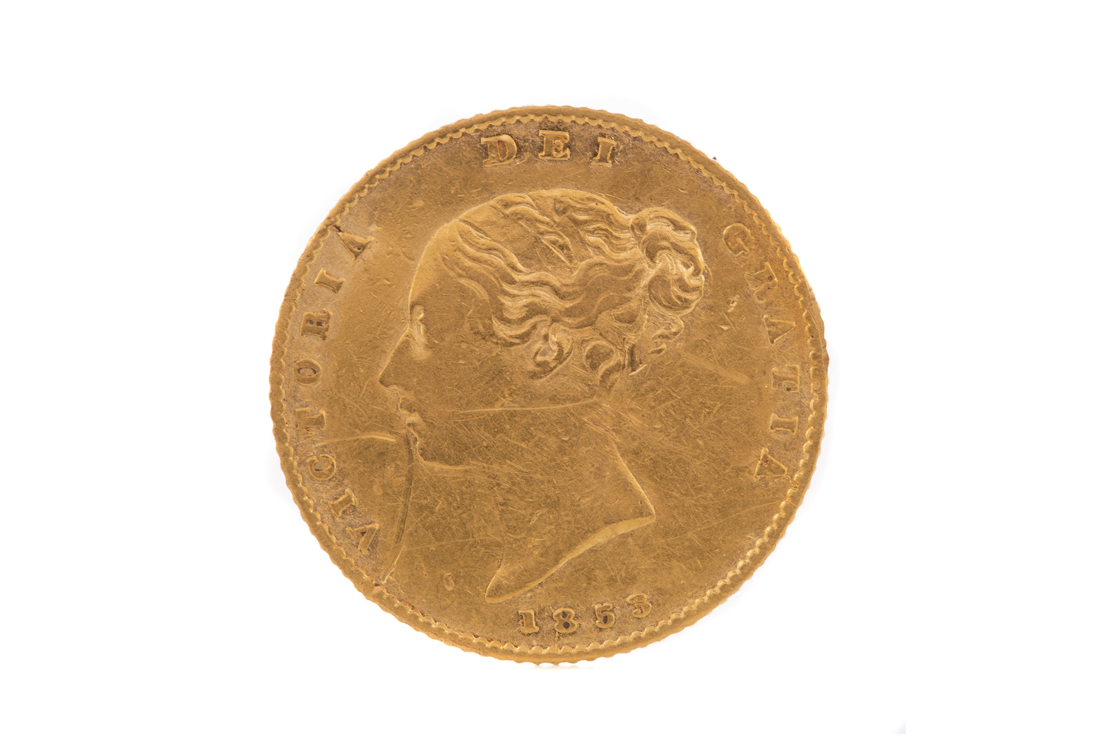 A VICTORIA GOLD HALF SOVEREIGN DATED 1853 - Image 2 of 2