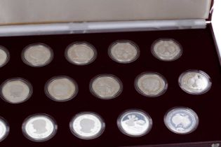 THE 1981 ROYAL MARRIAGE COMMEMORATIVE STERLING SILVER COIN COLLECTION