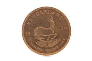 A GOLD KRUGERRAND DATED 1974
