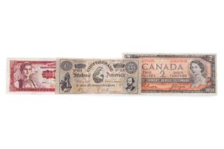 AN AMERICAN, CANADIAN AND YUGOSLAVIAN BANKNOTE