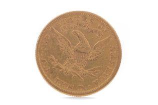 A GOLD AMERICAN TEN DOLLAR COIN