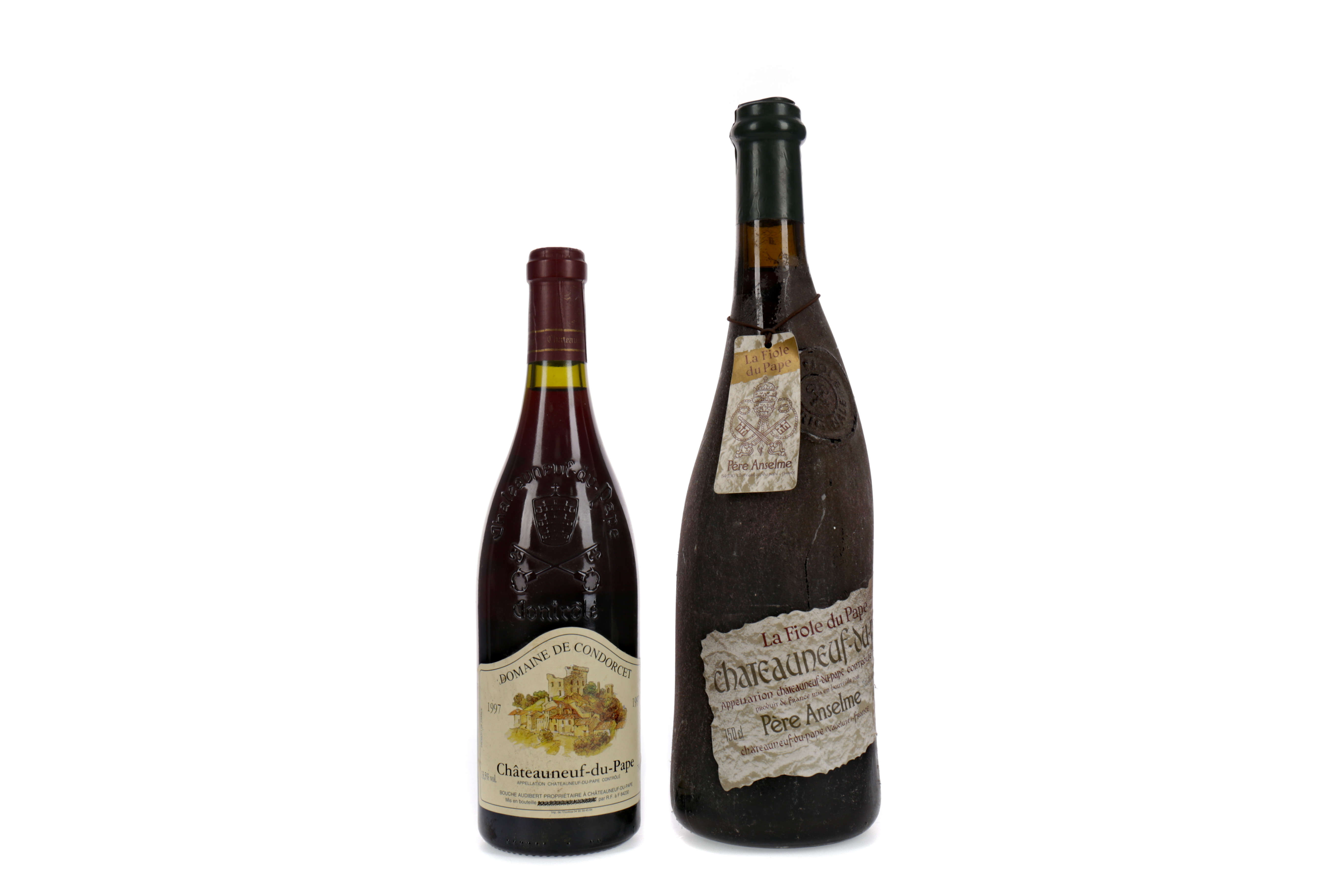MAGNUM OF PERE ANSELME CHATEANEUF-DU-PAPE AND ONE BOTTLE OF DOMAINE DE CONDERCET 1997