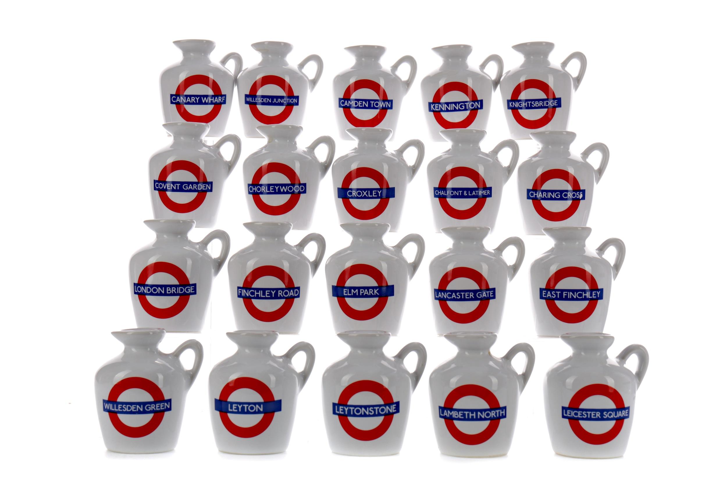 TWENTY MACALLAN LONDON UNDERGROUND SERIES 10 YEAR OLD MINIATURES