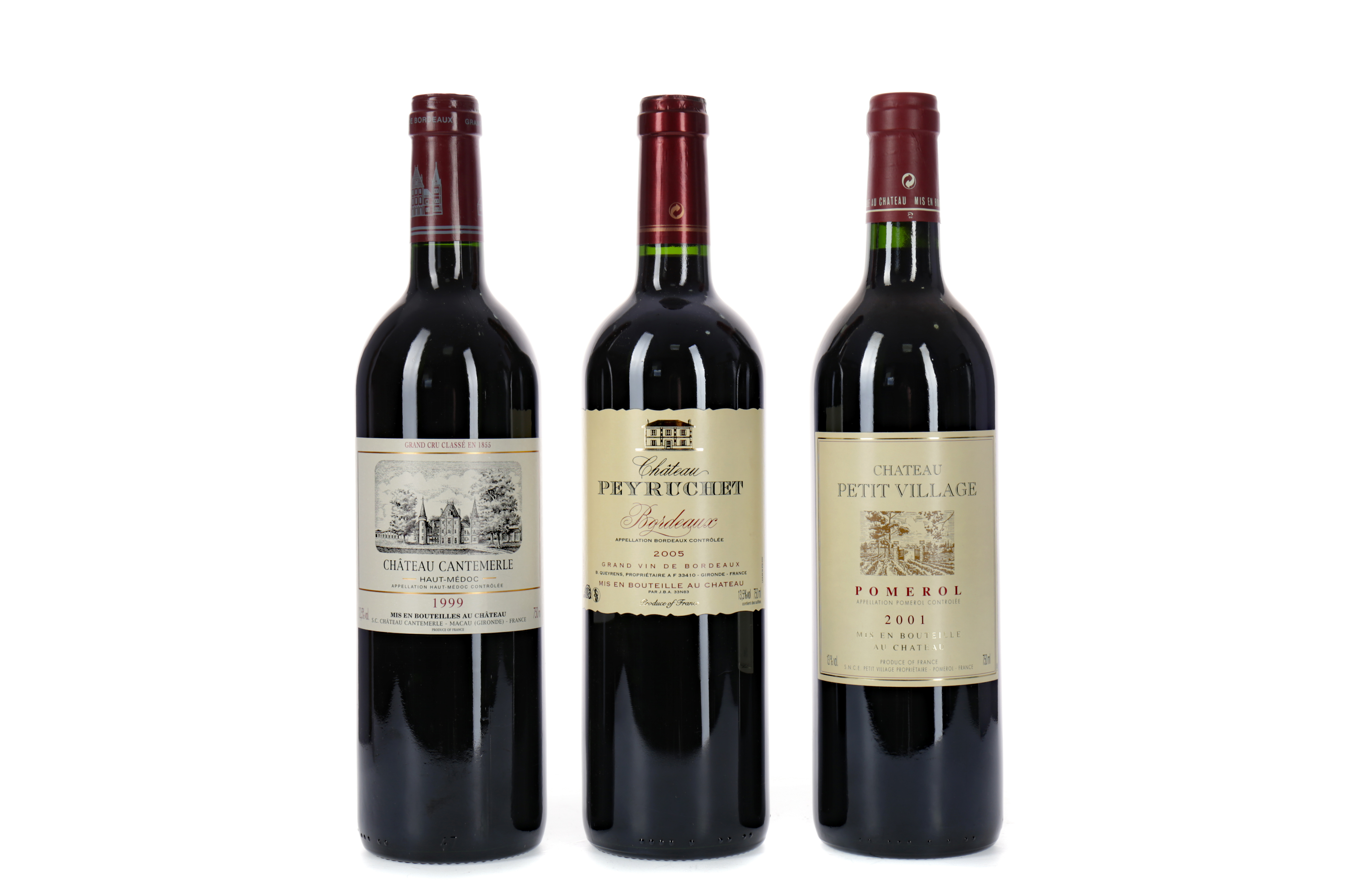 THREE BOTTLES OF RED BORDEAUX