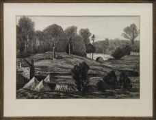 KEIR, DUNBLANE, A MIXED MEDIA BY W M MACGREGOR