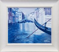VENITIAN REFLECTIONS, AN ACRYLIC BY ALICK GRAY