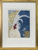 JAPANESE WHITE, A MIXED MEDIA AND GOLD LEAF BY LINDSAY J KEIR