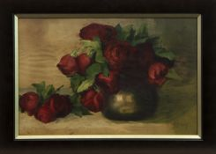 ROSES, A GOUACHE BY M BROWN