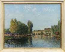 AN UNTITLED PRINT BY ALFRED SISLEY