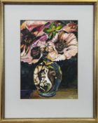 VASE WITH FLOWERS, A GOUACHE BY LINDSAY J KEIR