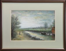 STROLL ON THE BANKS, A MIXED MEDIA BY J W FERGUSON