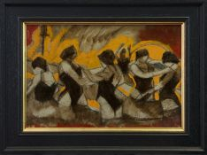 SUNSET DANCERS, A MIXED MEDIA BY JAMIE O'DEA