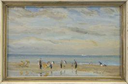BEACH, EDINBURGH, AN OIL BY T G MCGILL DUNCAN