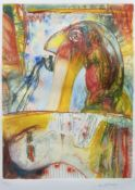 THE FRIGHT, AN ETCHING BY JOHN BELLANY
