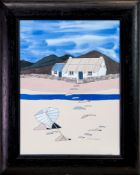 BOTHY BLUES, A MIXED MEDIA BY JENNY WATT-COLBECK
