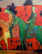 RIDERS, AN ACRYLIC BY ANDREI BLUDOV