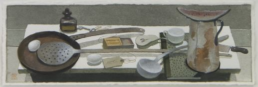 LONG HANDLED SPOON, A WATERCOLOUR AND GOUACHE BY JAMES MCNAUGHT