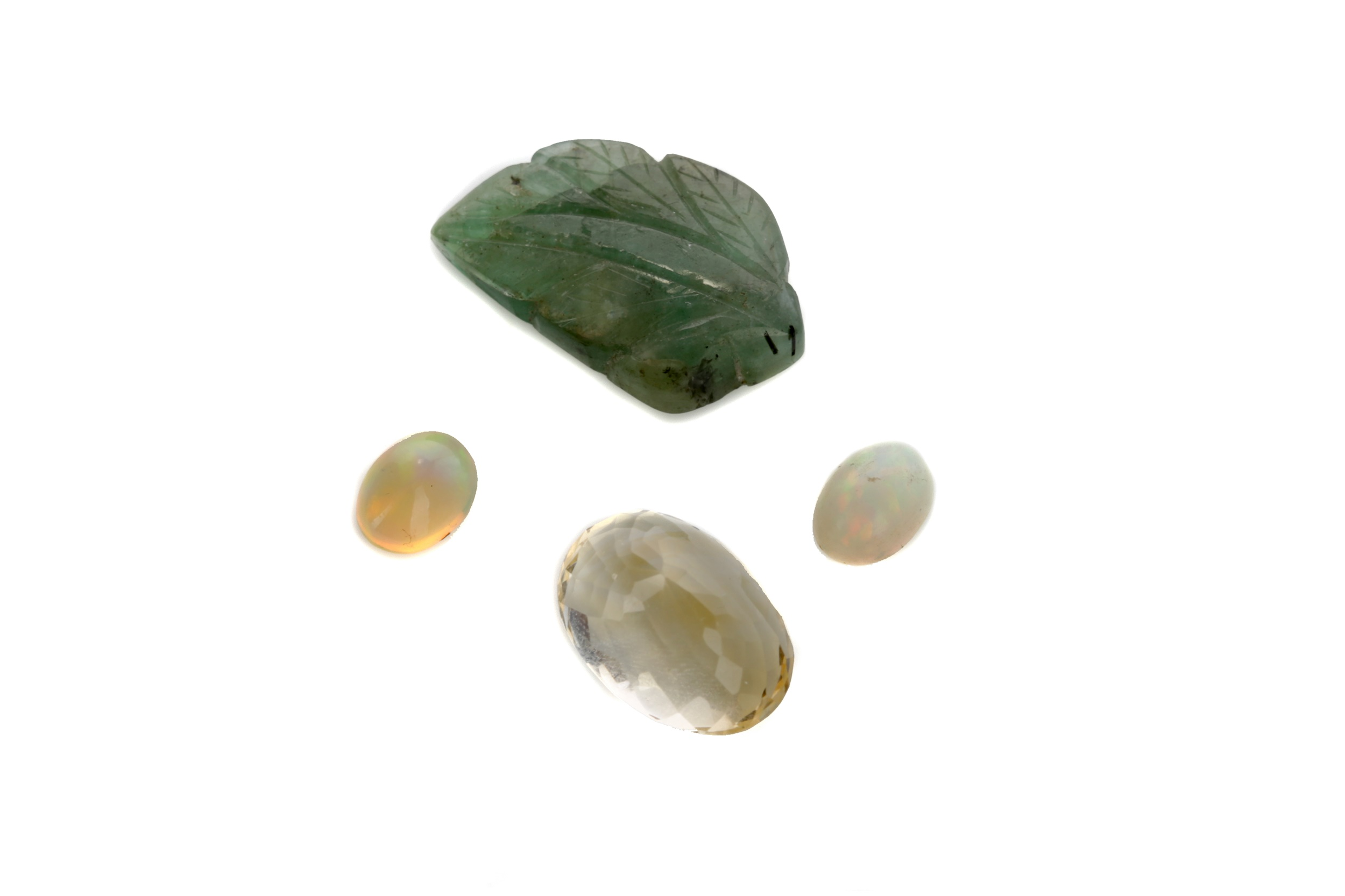 FOUR CERTIFICATED UNMOUNTED GEMS