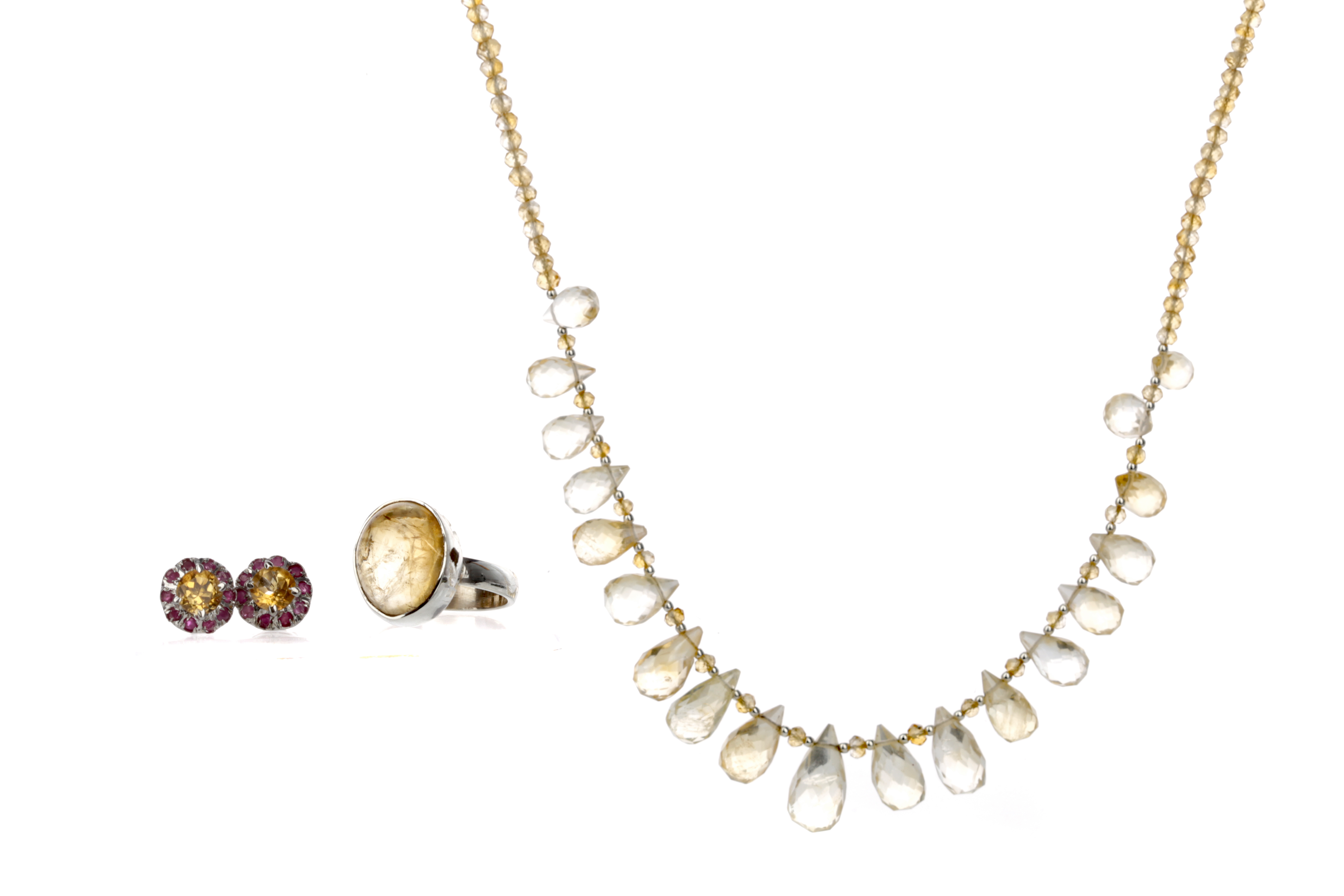 A COLLECTION OF CITRINE JEWELLERY