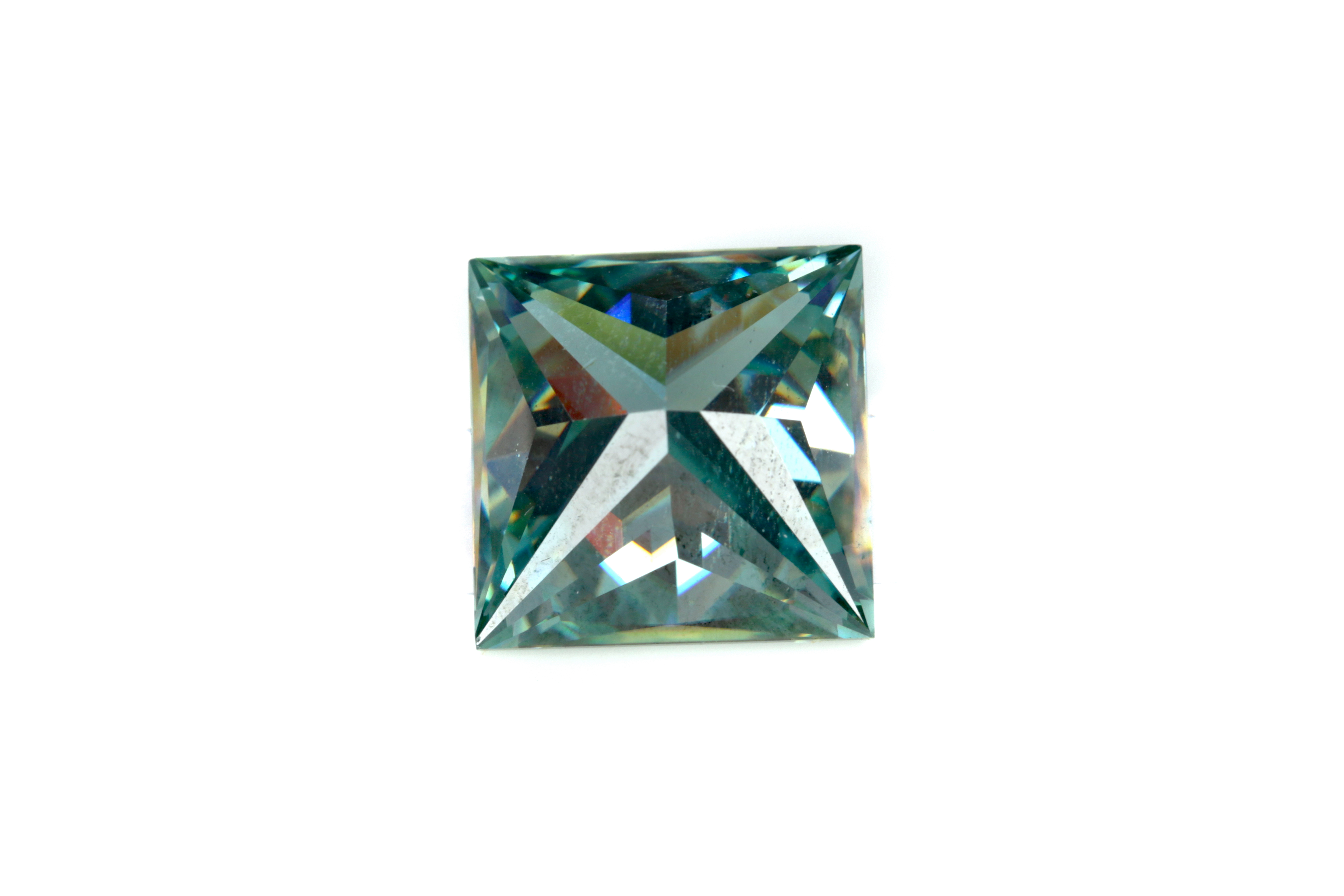 AN UNMOUNTED GREEN MOISSANITE - Image 2 of 2