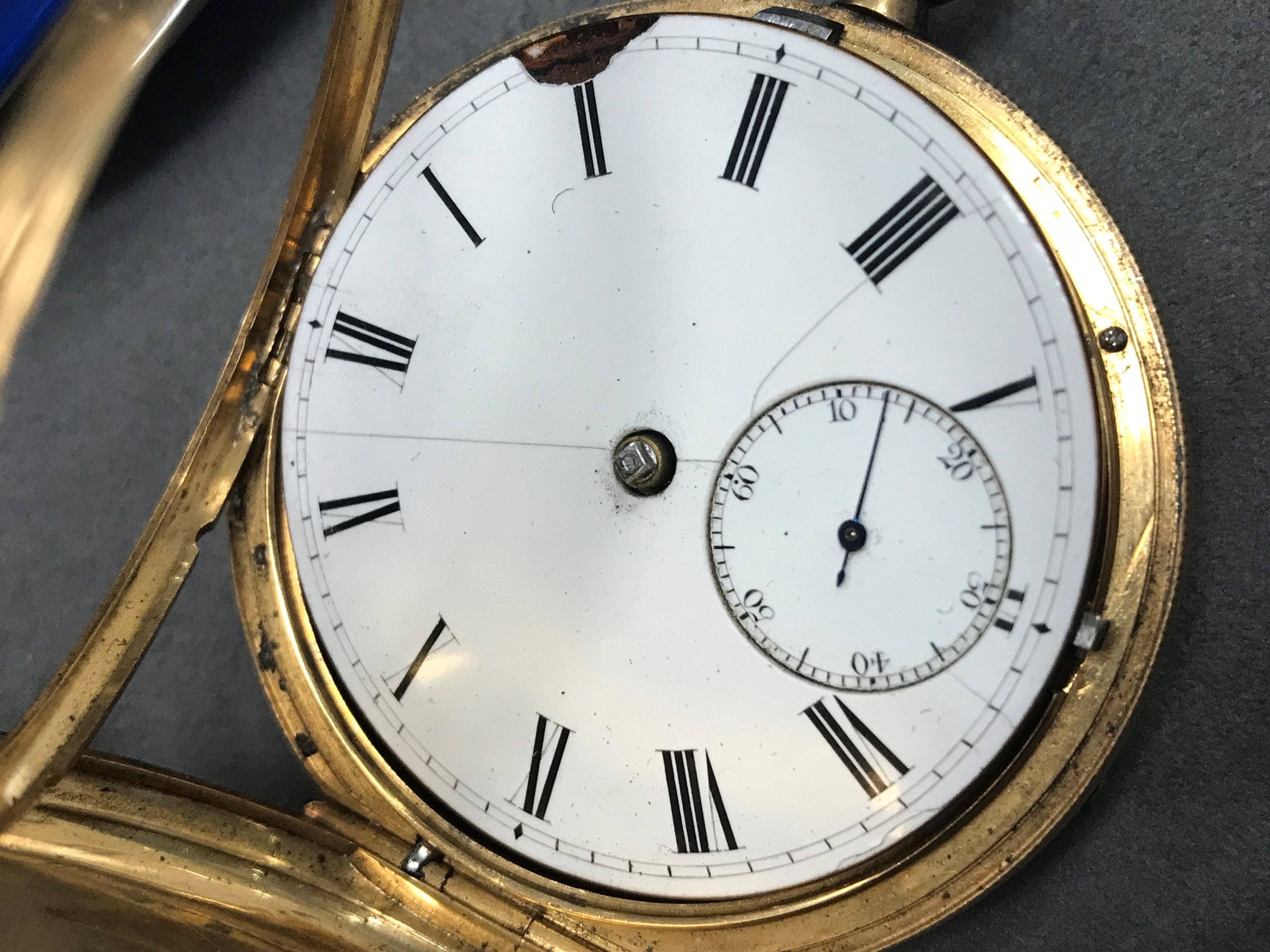 EIGHTEEN CARAT GOLD FULL HUNTER POCKET WATCH, the round white dial with Roman hour markers, - Image 6 of 6