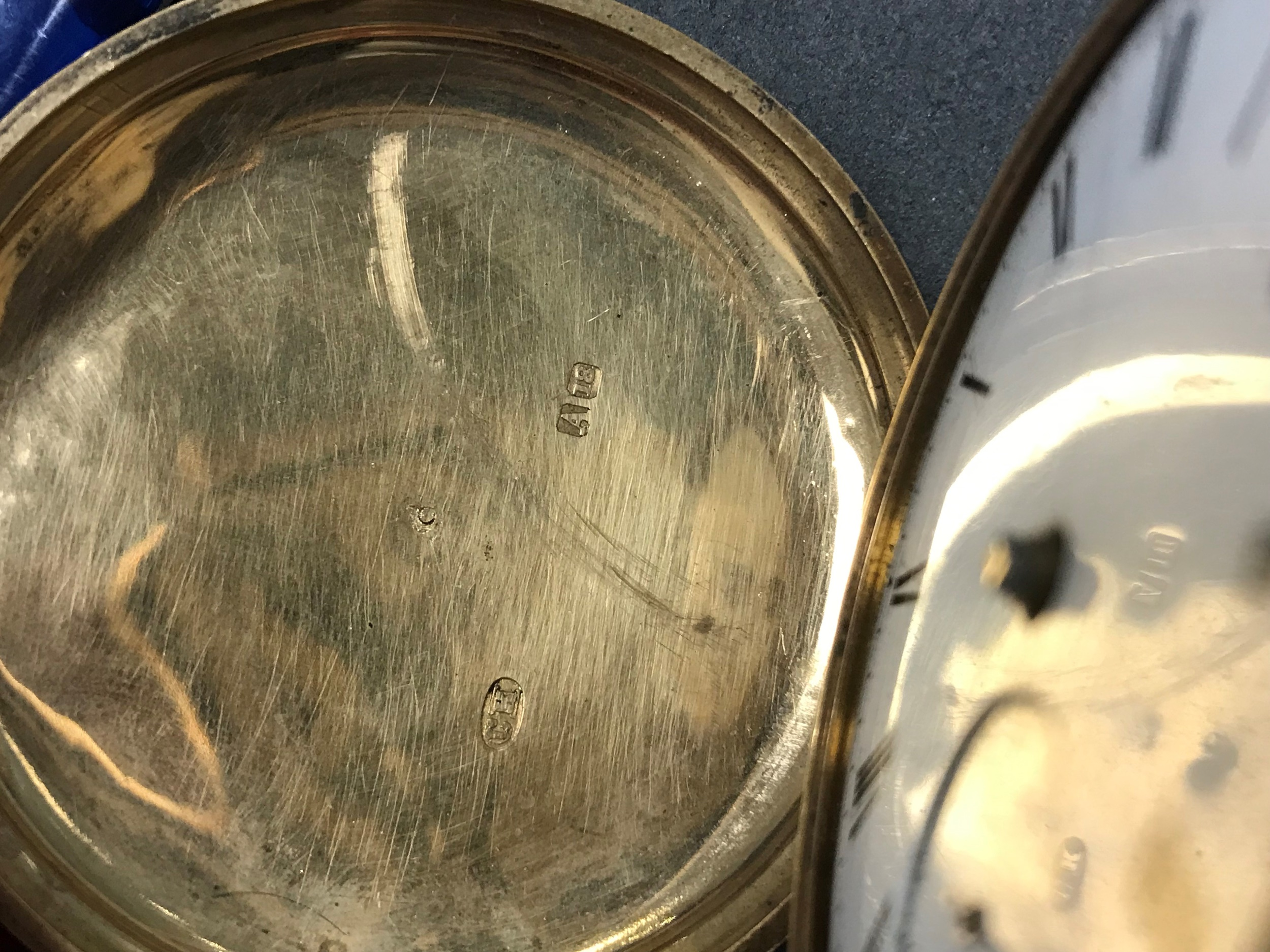 EIGHTEEN CARAT GOLD FULL HUNTER POCKET WATCH, the round white dial with Roman hour markers, - Image 4 of 6
