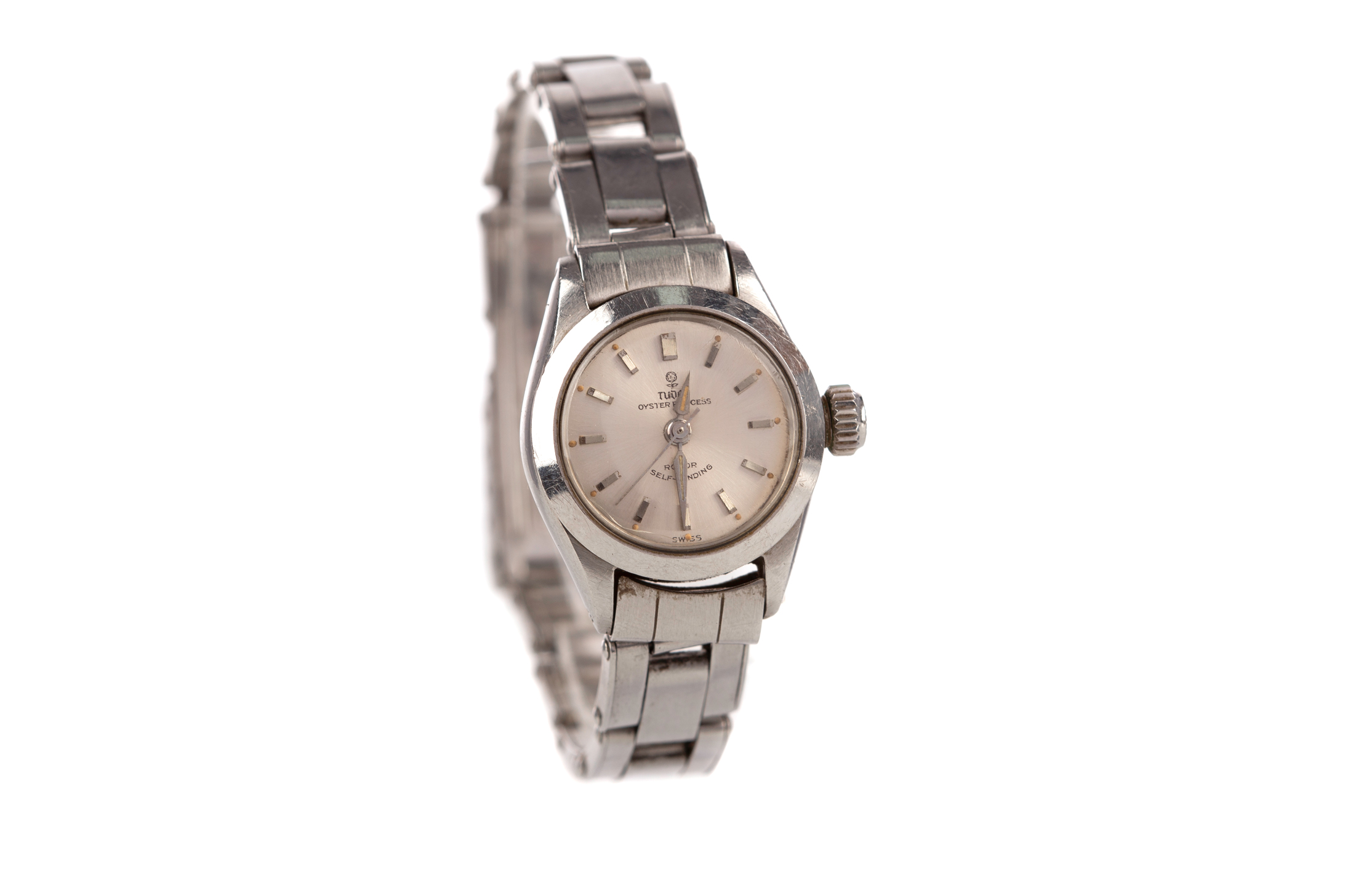 LADY'S TUDOR OYSTER PRINCESS STAINLESS STEEL AUTOMATIC WRIST WATCH, model number 7975, serial number