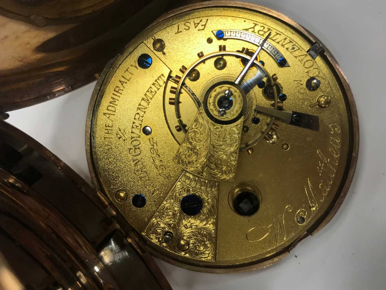 A NINE CARAT GOLD FULL HUNTER POCKET WATCH - Image 2 of 4