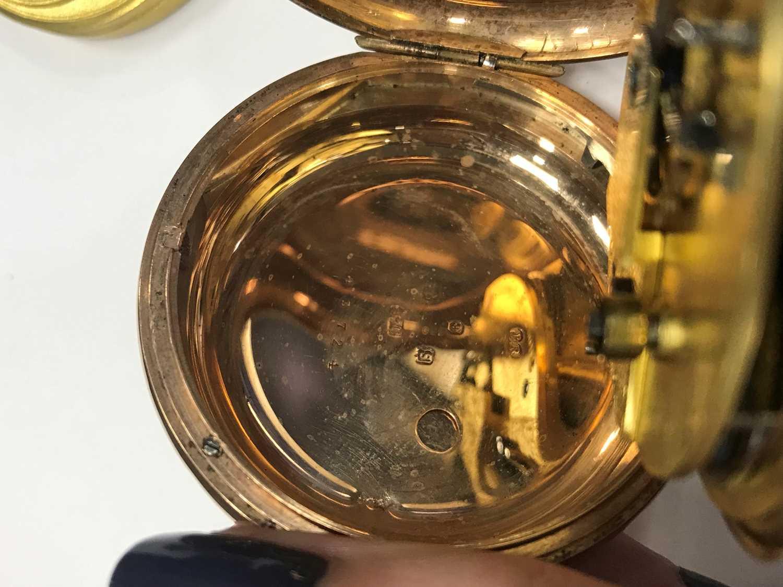 A NINE CARAT GOLD FULL HUNTER POCKET WATCH - Image 4 of 4