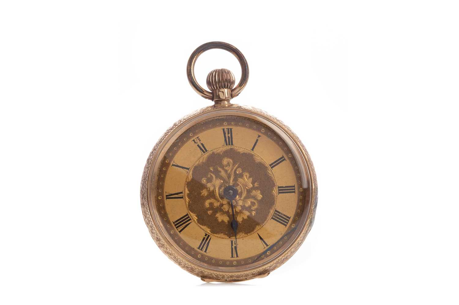 A GOLD CASED OPEN FACE FOB WATCH - Image 2 of 6