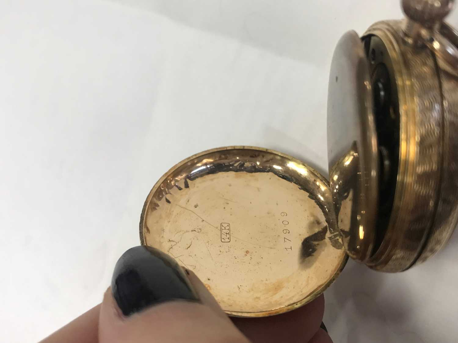 A GOLD CASED OPEN FACE FOB WATCH - Image 5 of 6