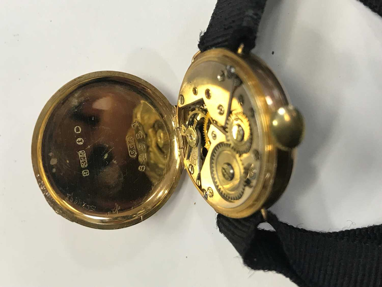 THREE LADY'S NINE CARAT GOLD CASED WATCHES - Image 3 of 3