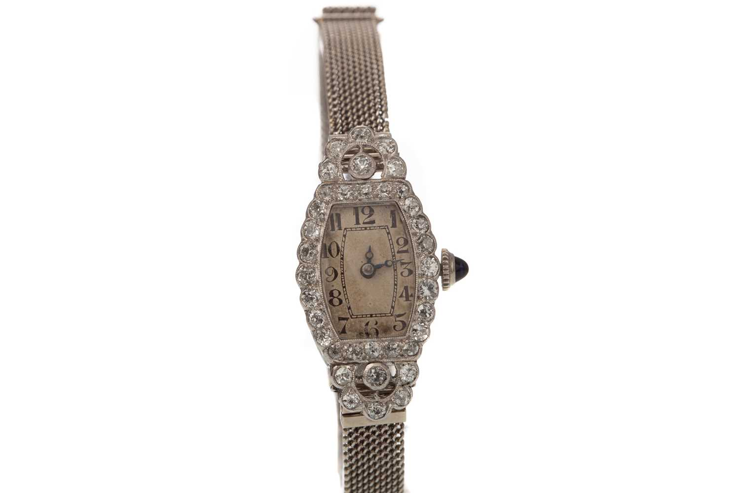 A LADY'S ART DECO DIAMOND COCKTAIL WATCH - Image 2 of 4