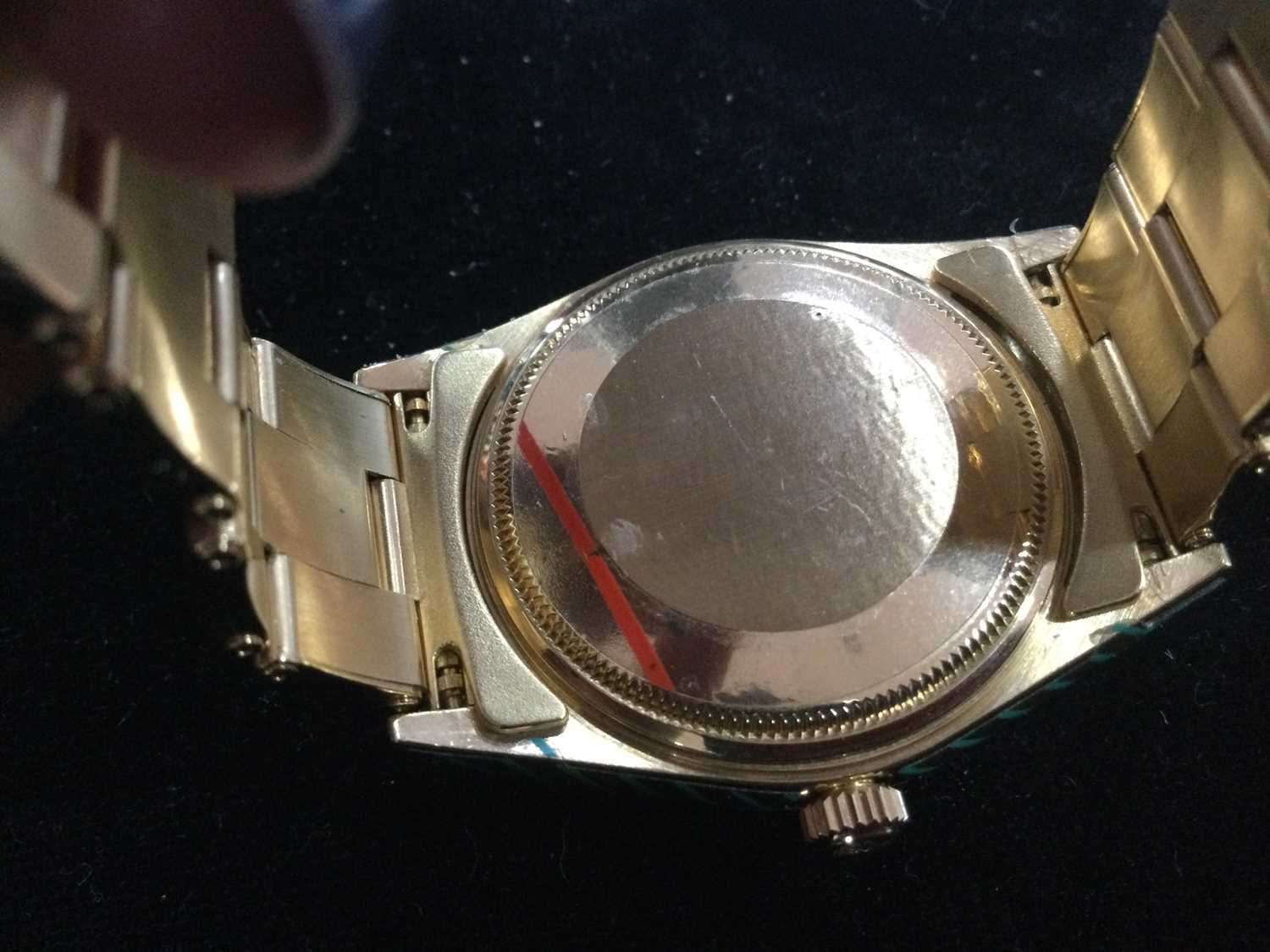 A GENTLEMAN'S ROLEX OYSTER PERPETUAL EIGHTEEN CARAT GOLD AUTOMATIC WRIST WATCH - Image 9 of 9