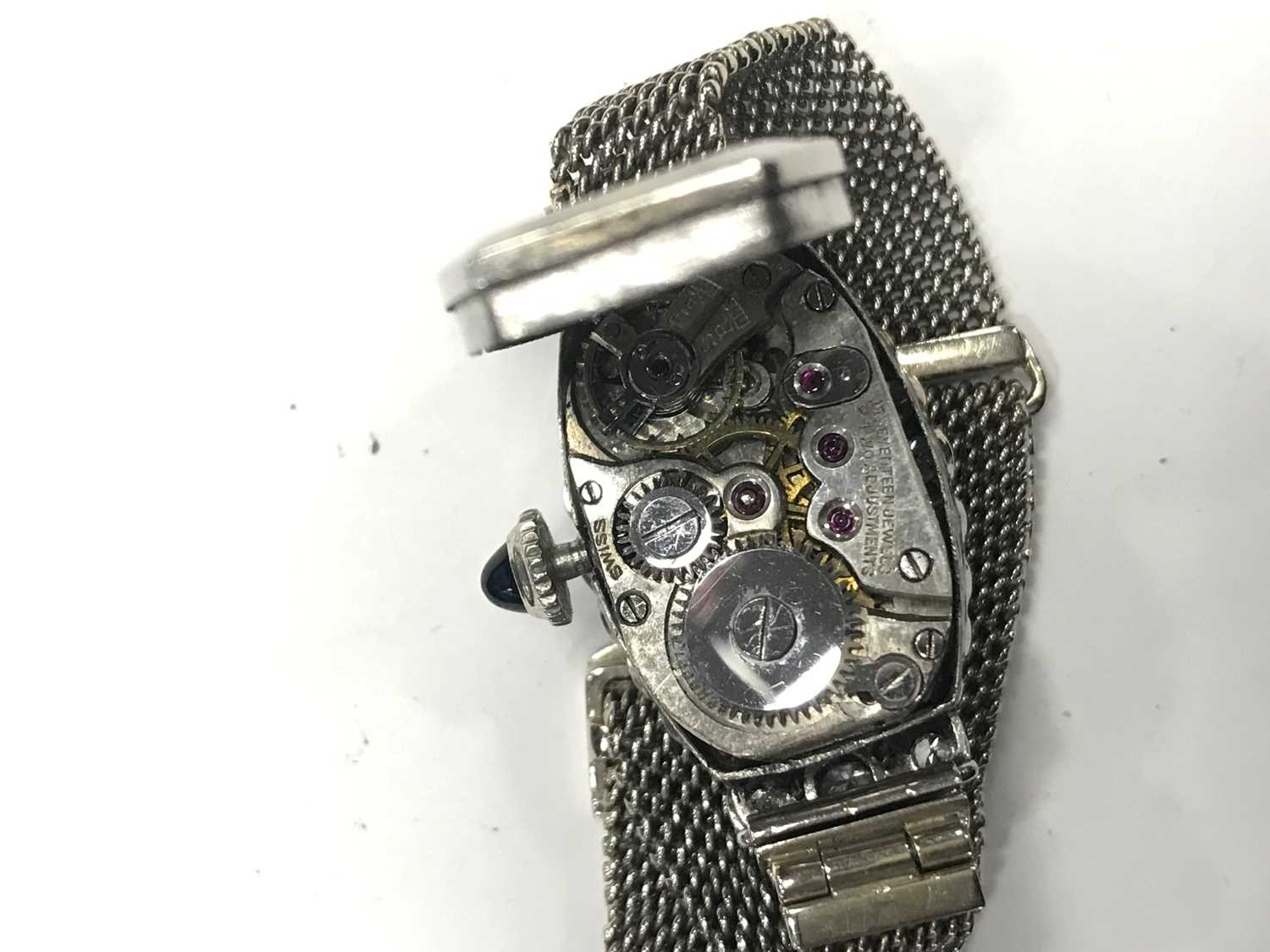 A LADY'S ART DECO DIAMOND COCKTAIL WATCH - Image 3 of 4