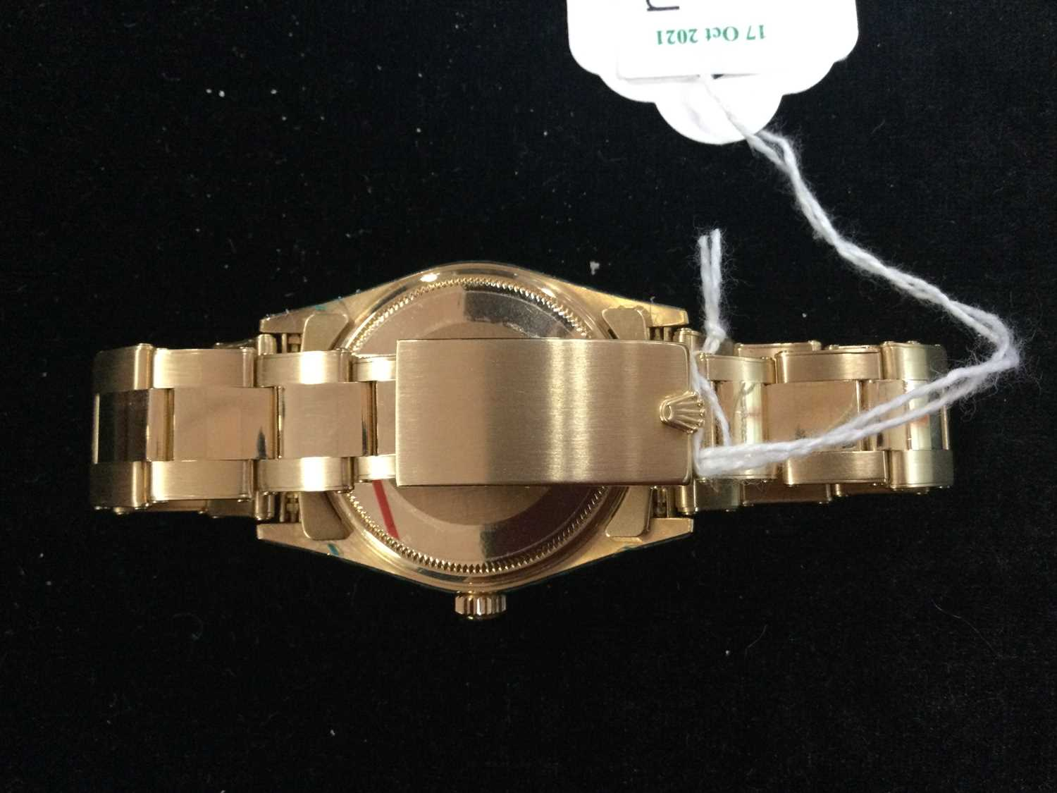 A GENTLEMAN'S ROLEX OYSTER PERPETUAL EIGHTEEN CARAT GOLD AUTOMATIC WRIST WATCH - Image 3 of 9