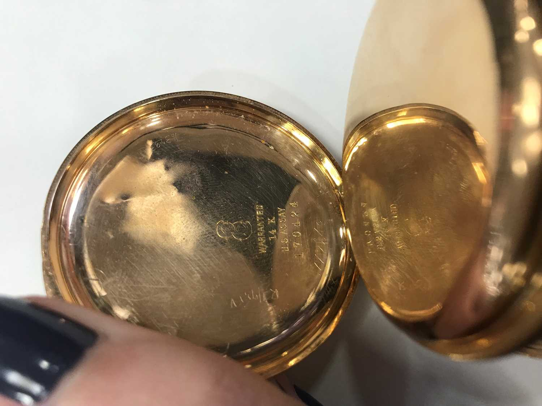 AN ELGIN GOLD FULL HUNTER POCKET WATCH - Image 3 of 3