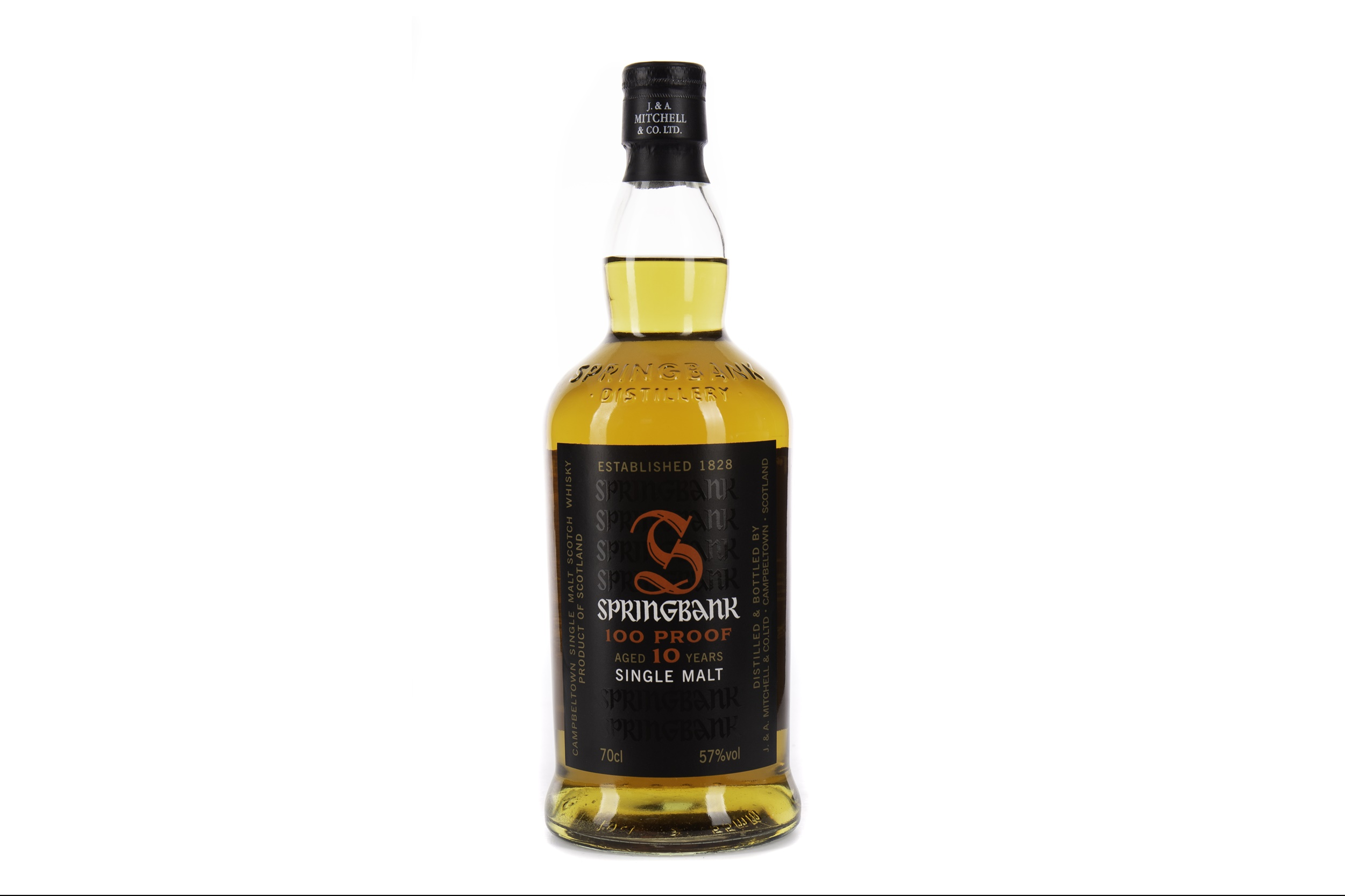 SPRINGBANK 100 PROOF AGED 10 YEARS