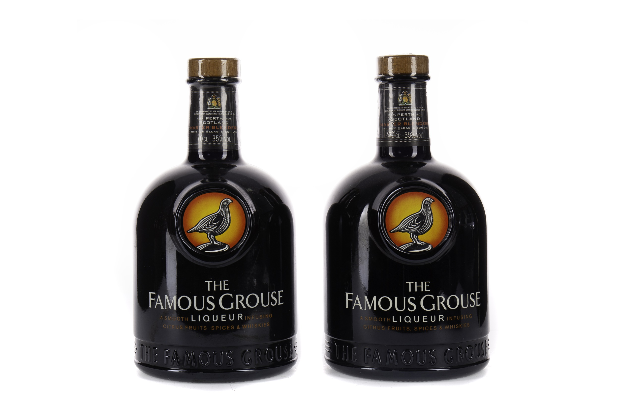 TWO BOTTLES OF THE FAMOUS GROUSE LIQUEUR