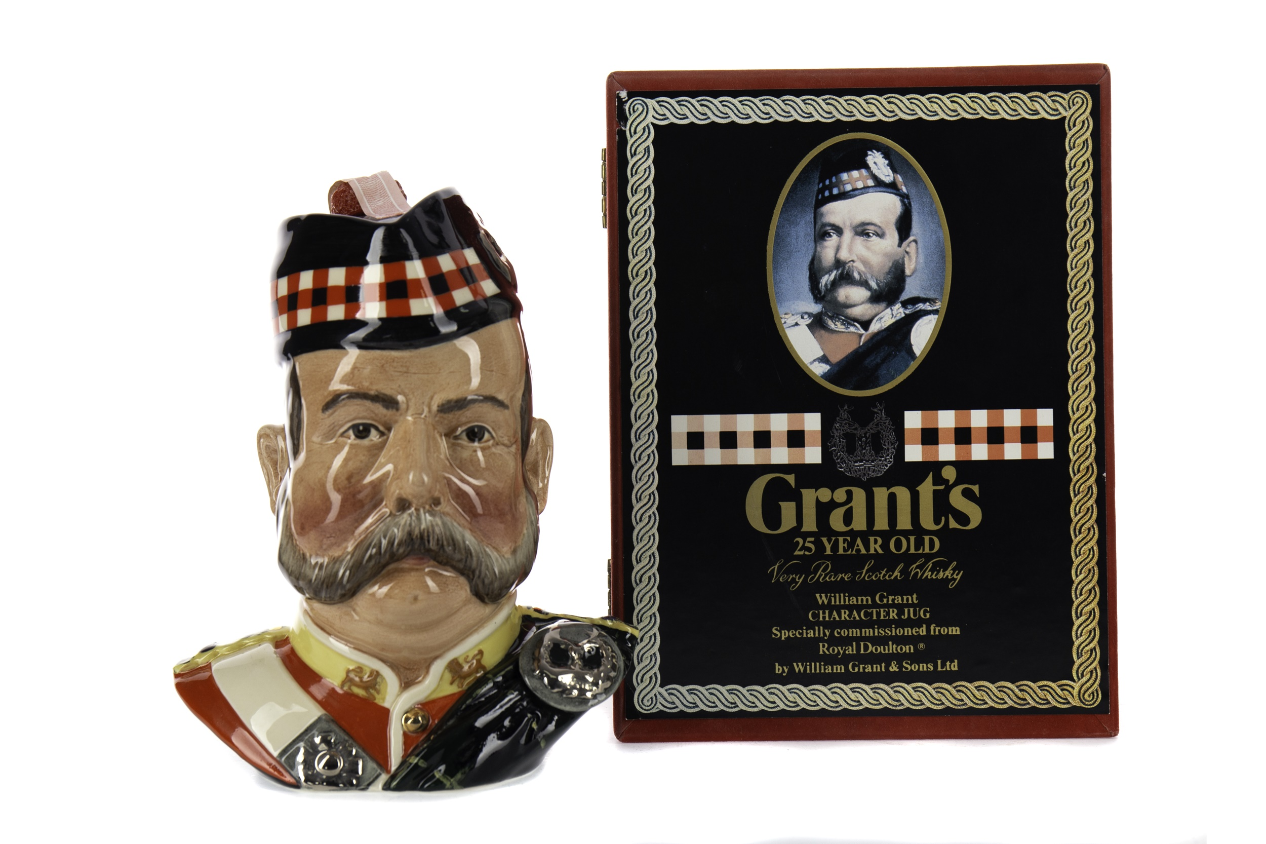 GRANT'S 'WILLIAM GRANT CHARACTER JUG' AGED 25 YEARS